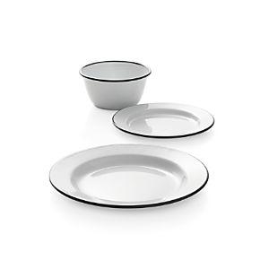Black Rim Enamelware Dinnerware