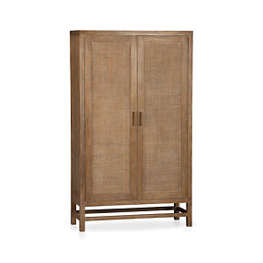 Blake Grey Wash 2-Door Cabinet