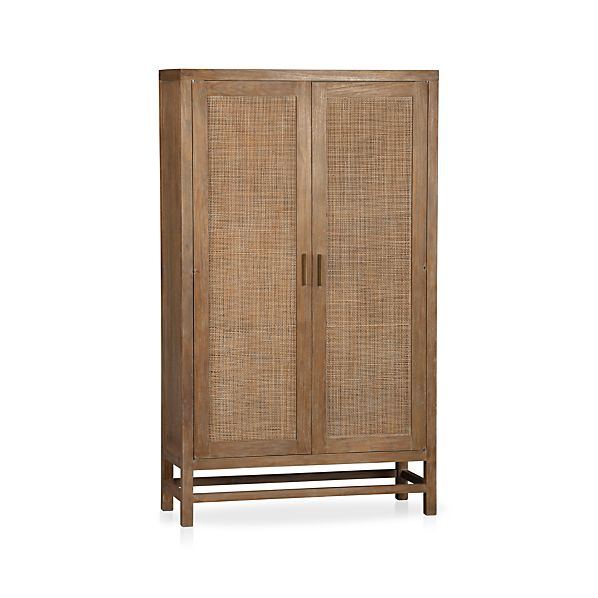 Blake Grey Wash 2-Door Cabinet in Storage Cabinets | Crate and Barrel