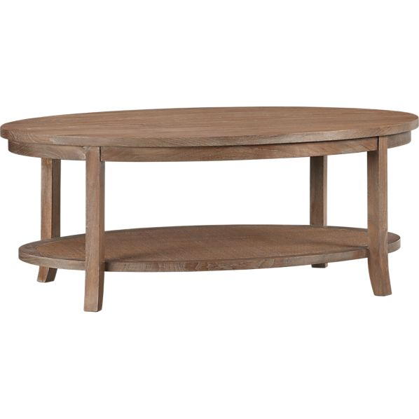 Blake Grey Wash Oval Coffee Table