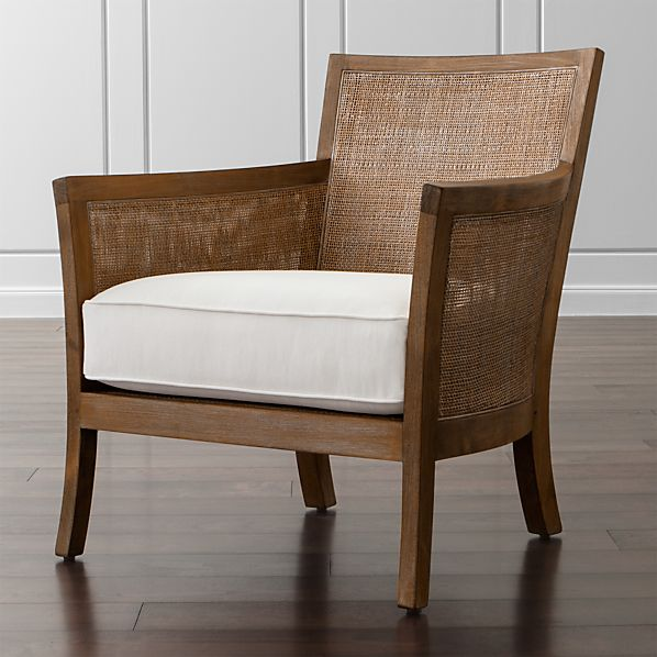 Blake Grey Wash Lounge Chair with Cushion