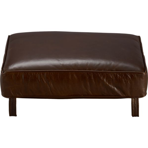 Blake Leather Ottoman Cushion