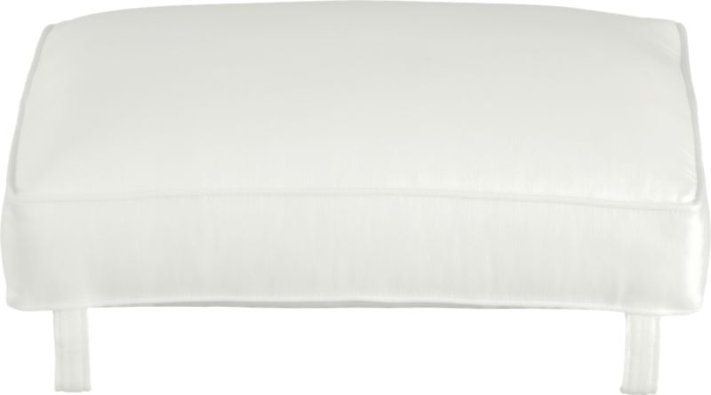 Cushion for Blake Ottoman is plumped with soy- or plant-based polyfoam and wrapped in crisp self-welted cotton-poly fabric. Leather cushion also available.<br /><br /><NEWTAG/><ul><li>Cotton-polyester cushion with multilayer soy- or plant-based polyfoam</li><li>Professional cushion cleaning recommended</li><li>Made in North Carolina, USA</li></ul>