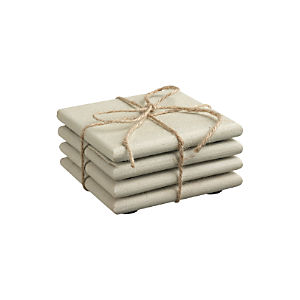 Set of 4 Blanco Sandstone Coasters