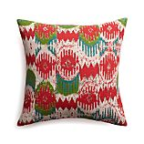 "Blitzen 18"" Pillow with Feather-Down Insert"