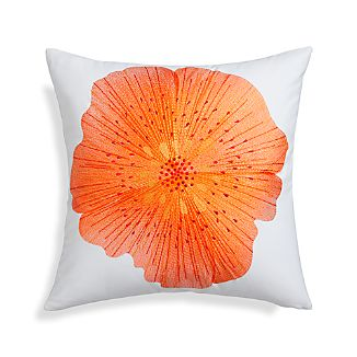 "Bloom Hot 20"" Pillow with Down-Alternative Insert"