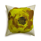 Blossom Yellow Pillow with Feather-Down Insert.