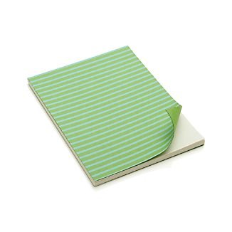 Blue and Green Stripe Notebook
