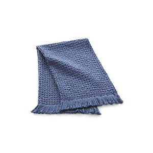 Waffle Blue Hand Towel
