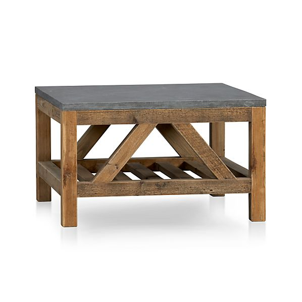 Bluestone coffee table crate and barrel for Coffee table crate and barrel
