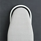 Tabletop Ironing Board Cover with Grey Dot Pad.