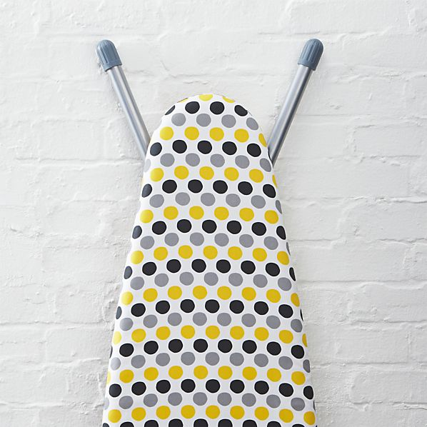 """Yellow Dot 14"""" Ironing Board Cover with Pad"""