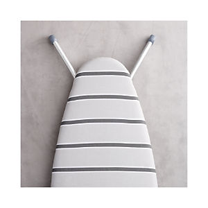 Wide Top Ironing Board Cover with Grey Stripe Pad