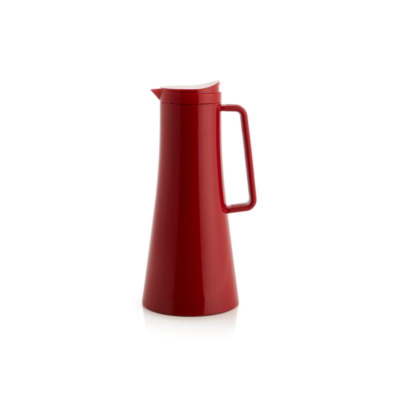 Coffee Carafe Large Red Thermal Coffee Carafe