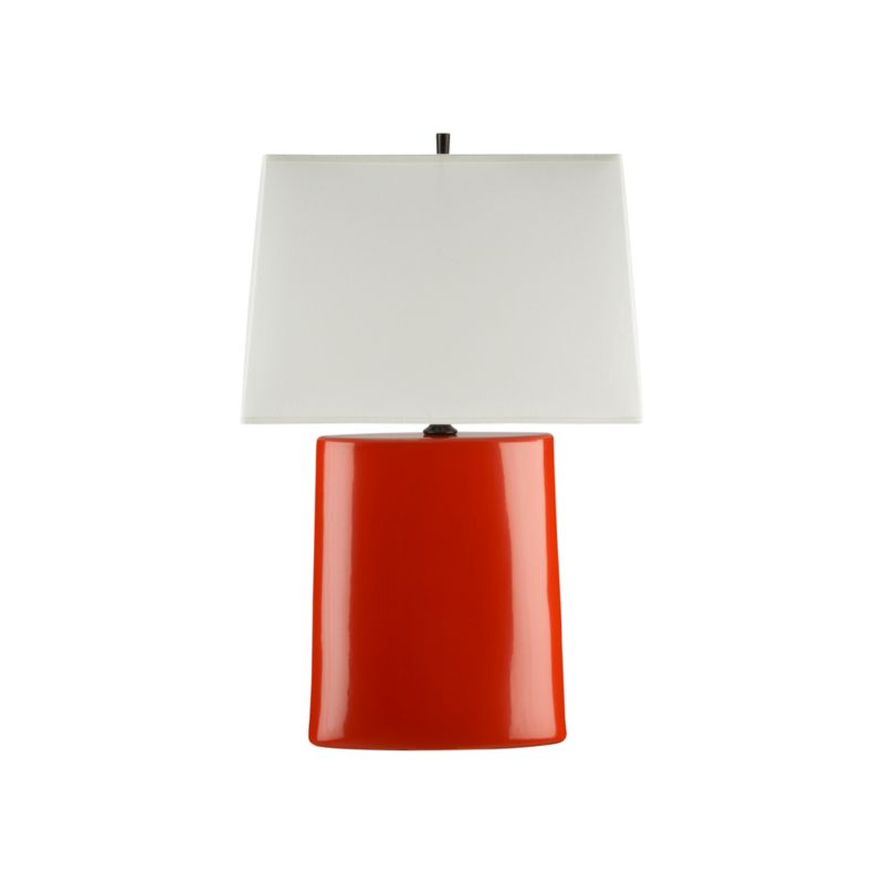 boka persimmon table lamp crate and barrel. Black Bedroom Furniture Sets. Home Design Ideas
