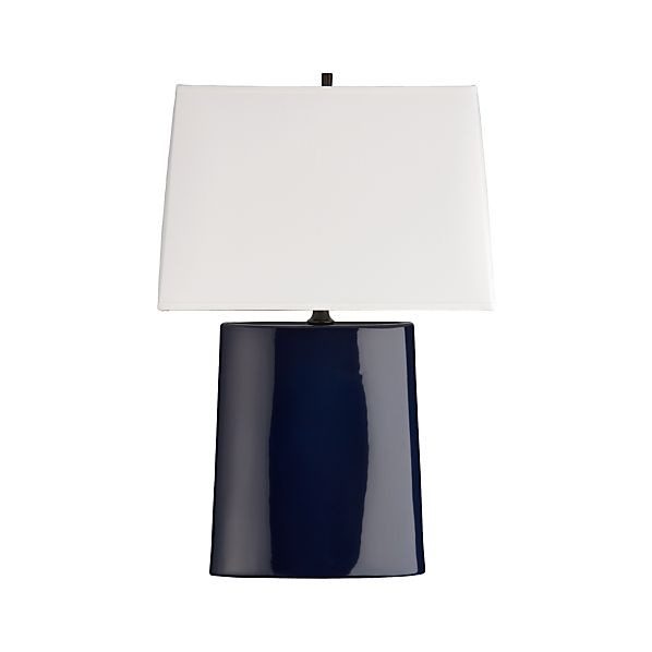 Boka Midnight Blue Table Lamp Crate And Barrel