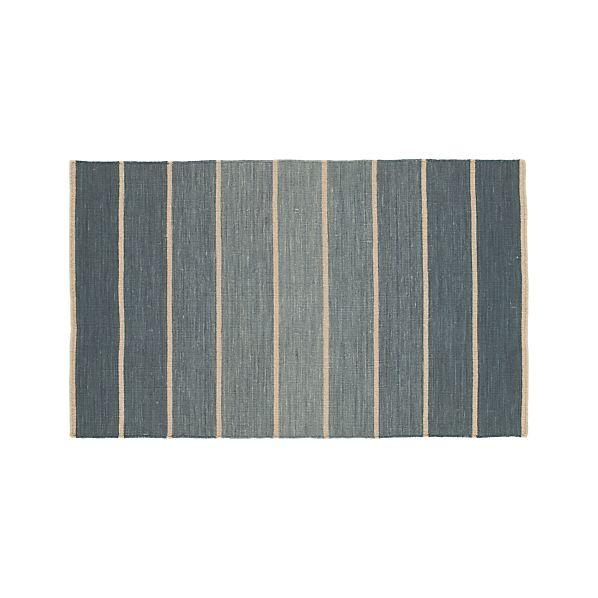 Bold Blue Stripe 3'x5' Rug