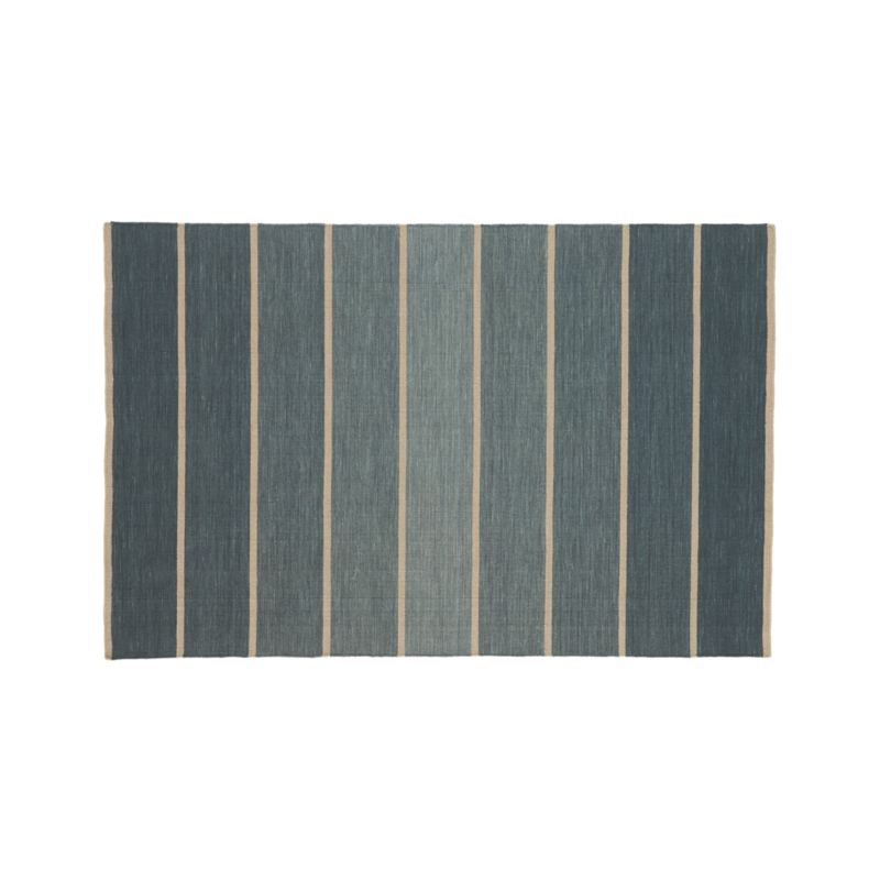Rugs Like Crate And Barrel: Bold Blue Stripe 5'x8' Rug