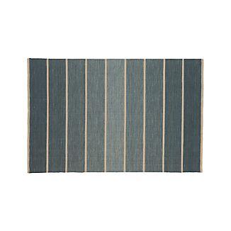 Bold Blue Stripe Rug