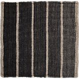 "Bold Graphite Grey Striped Wool-Blend 12"" sq. Rug Swatch"