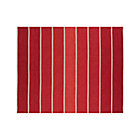 Bold Red Striped Wool-Blend Rug.