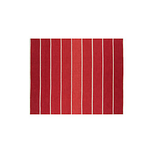 Bold Stripe Red 8x10 Rug