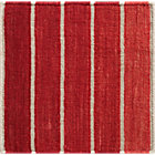 Bold Red Striped Wool-Blend Rug Swatch.