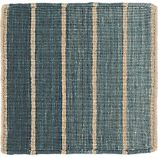 "Bold Blue Stripe 12"" sq. Rug Swatch"