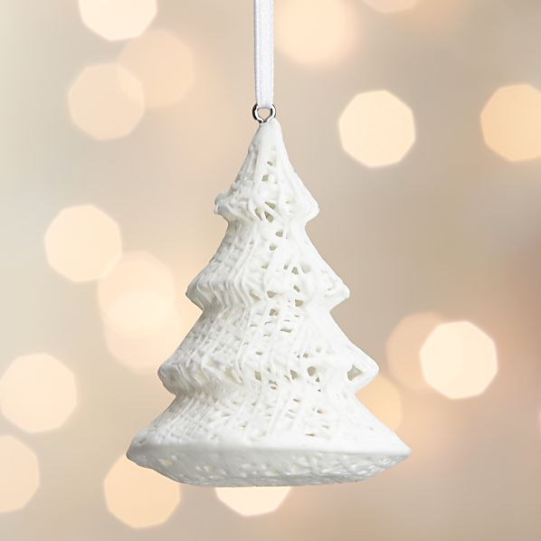 Bone China Fiber Tree Ornament