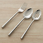 Boulder 3-Piece Serving Set: serving fork, pierced serving spoon and serving spoon.
