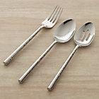 Boulder 3-Piece Serving Set: serving fork, pierced serving spoon and serving spoon.