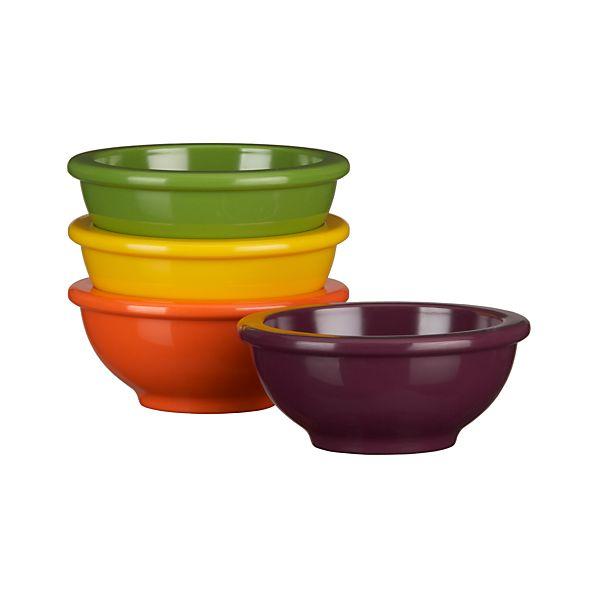 Set of 4 Melamine Mini Bowls