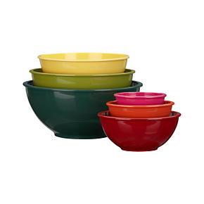 6-Piece Melamine 4.78-11.8 Nesting Bowl Set