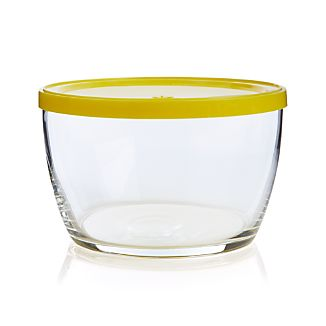 Bowl with Yellow Lid
