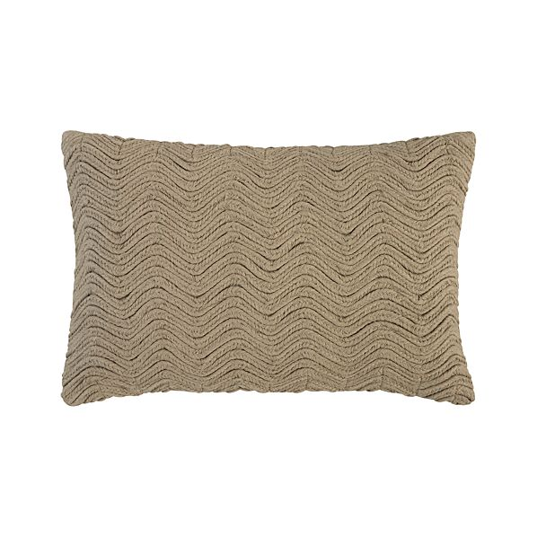 "Braid Brown 18""x12"" Pillow"