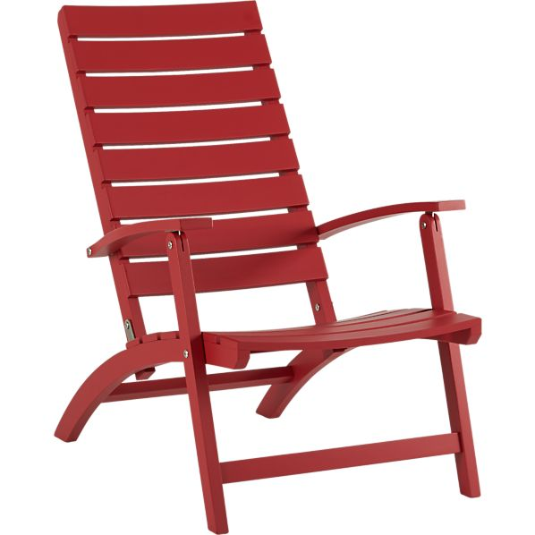 Brant Red Folding Chair