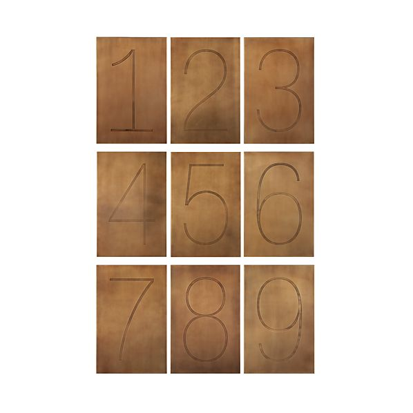 Brass Numbers Wall Art