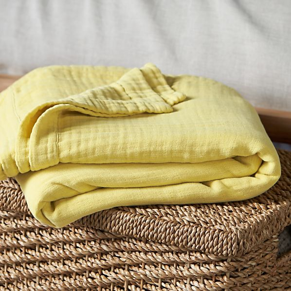 Breezy Citron Twin Blanket