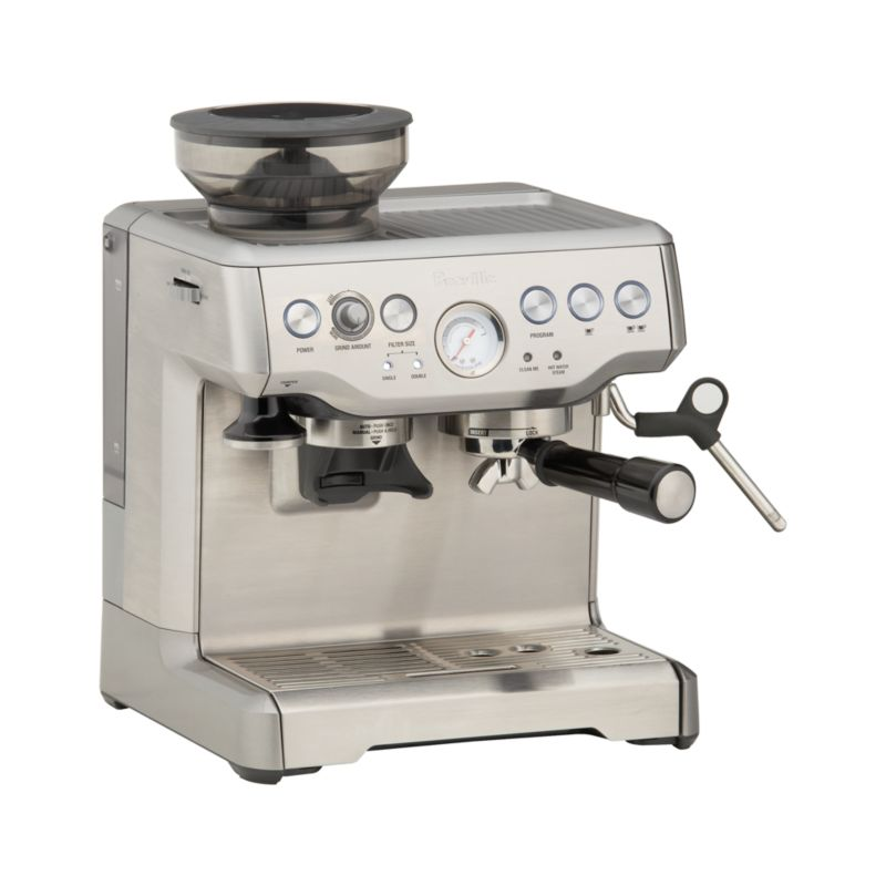 Breville Coffee Maker Water Not Going Out : Breville Barista Espresso Machine Crate and Barrel