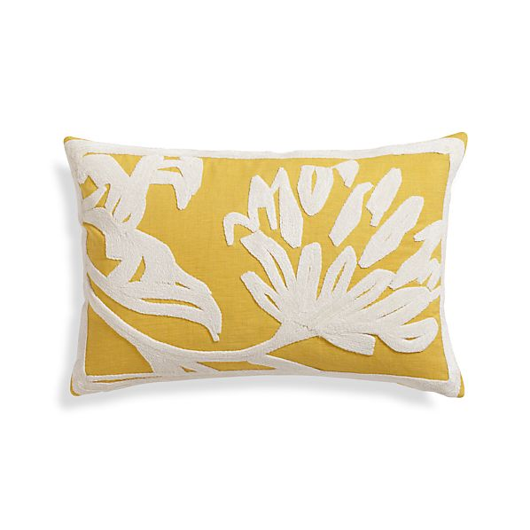 "Briar Yellow 18""x12"" Pillow"