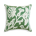 Briar Green Pillow with Feather Insert.