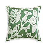 "Briar Green 20"" Pillow with Down-Alternative Insert"