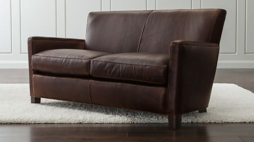 Briarwood Leather Loveseat
