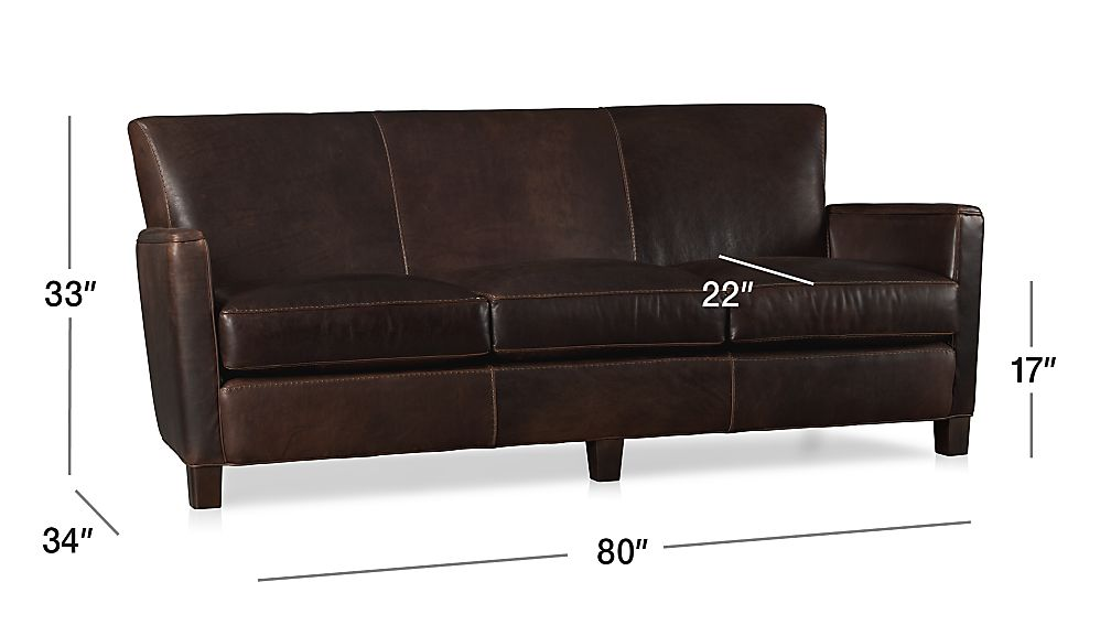 Crate And Barrel Leather Sofa Mcallister