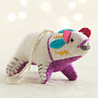 Bright Polar Bear with Purple Belly Ornament.
