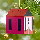 Bright Stripes House Ornament