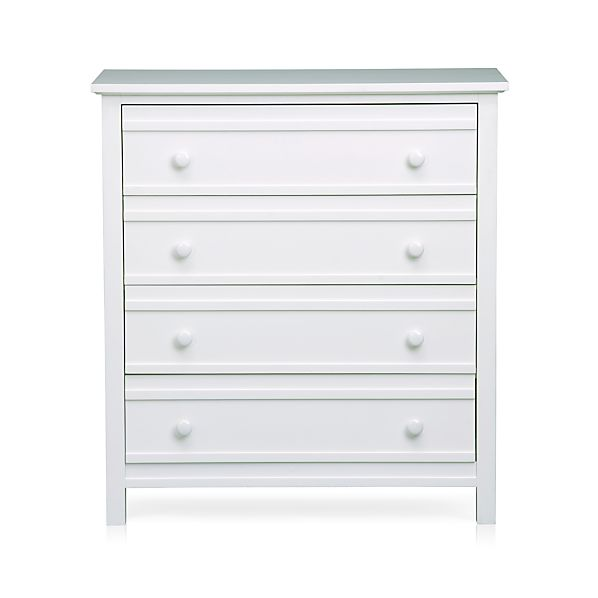 Brighton White Four-Drawer Chest