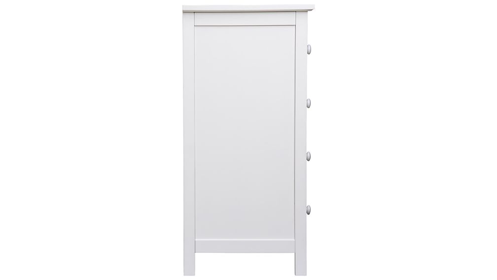 Brighton White 4-Drawer Chest
