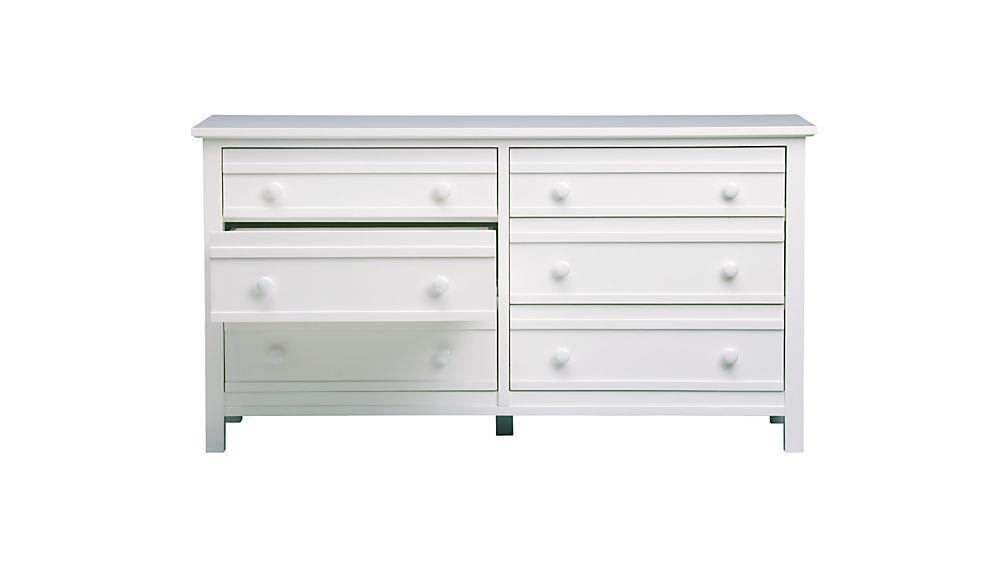 Brighton White 6-Drawer Dresser