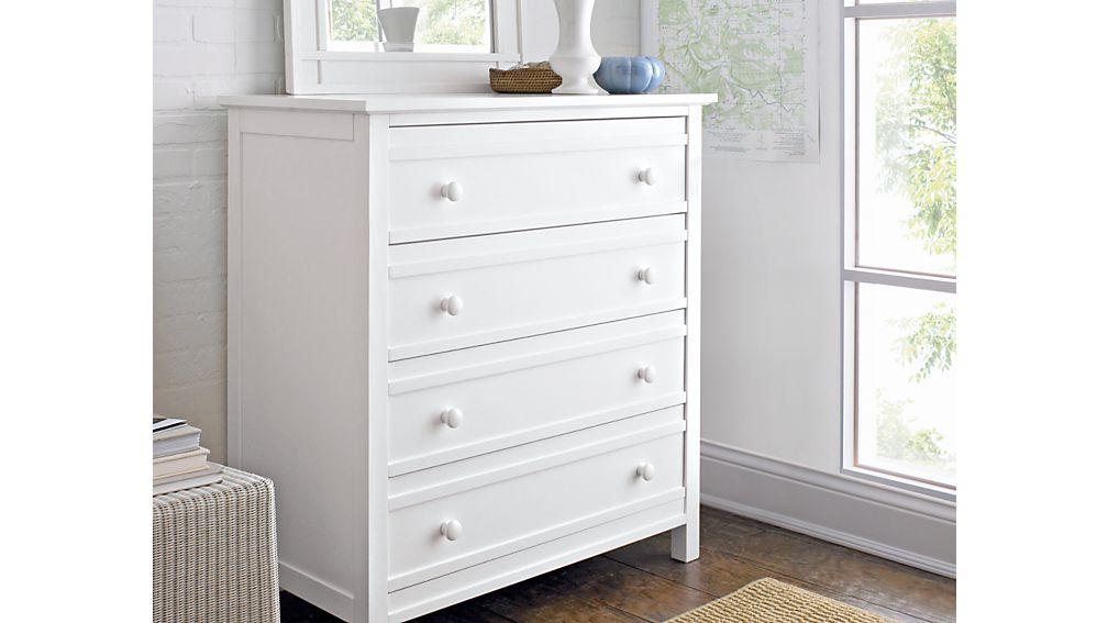 Brighton White 4-Drawer Chest